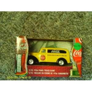 Coca Cola 1 43 Scale Die Cast 1936 Panel Truck Bank Toys & Games