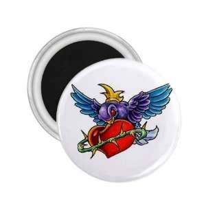 NEW Tattoo King Sparrow Fridge Souvenir Magnet 2.25