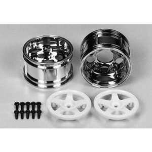 Tamiya 5 Spoke Two Piece Wheels (2), Wide Toys & Games