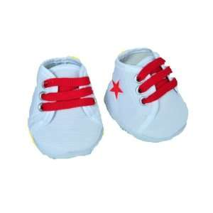Red Star White Tennis Shoes Teddy Bear Clothes Fit 14
