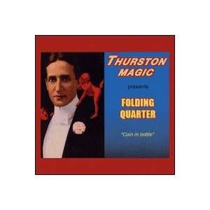 Folding Quarter by Thurston Magic  Toys & Games