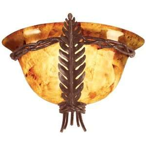 Kalco 5206TO Tortoise Shell Naples Tropical / Safari ADA Wall Sconce