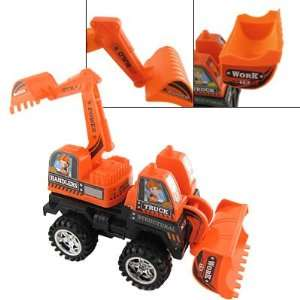 Children Orange Black Plastic Excavator Earthmover Toy Toys & Games
