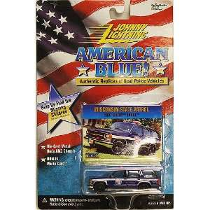 Johnny Lightning American Blue Wisconsin State Patrl 1997