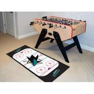San Jose Sharks Hockey Rink Runner Area Rug/Carpet  Sports