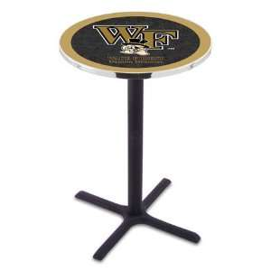 42 Wake Forest Bar Height Pub Table   Cross Legs  Sports