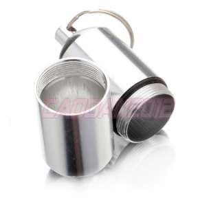 New WaterProof Silvery Aluminum Pill Box Case Bottle Holder Container