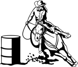 Barrel Racing Decal Rodeo Window Sticker 00 WR 6