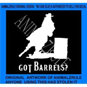 BARREL RACING HORSES VINYL DECAL
