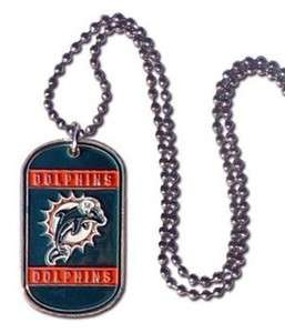 Miami Dolphins Dog Tag / Neck Tag Necklace