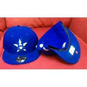 New Era Houston Astros League Basic Royal Blue/White Fitted Hat (7 1/2