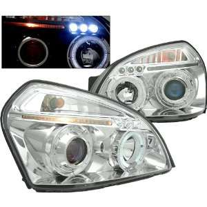 07 Hyundai Tucson Projector Headlights   Chrome Blue Lens Automotive