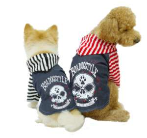 Pet Dog Clothes Fasion Puppy Apparel Jeans Shirt Skull