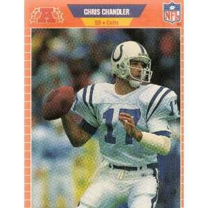 CHRIS CHANDLER, Quarterback, 17, Indianapolis Colts, Official NFL Card