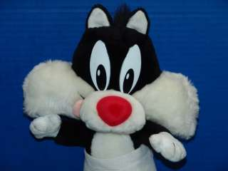 TINY TUNE STUFFED ANIMAL BABY SYLVESTER PUDDY CAT PLUSH